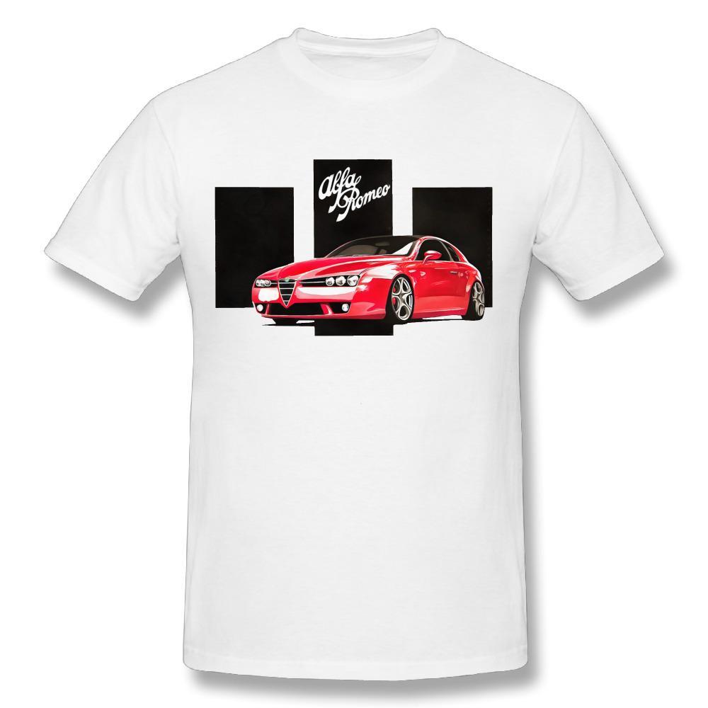 Casual Alfa Romeo T Shirts Graphic D Print Male Cotton Man T - Alfa romeo apparel