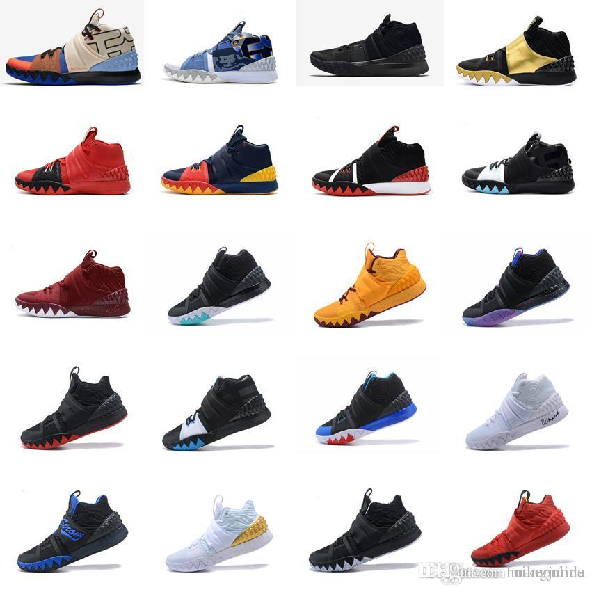super popular 1b88e 1682b 2019 Cheap Men What The Kyrie S1 Hybrid Basketball Shoes Black Blue Team  Red Gold Christmas Irving 1 2 3 4 IV Sneakers Boots For Sale With Box From  ...