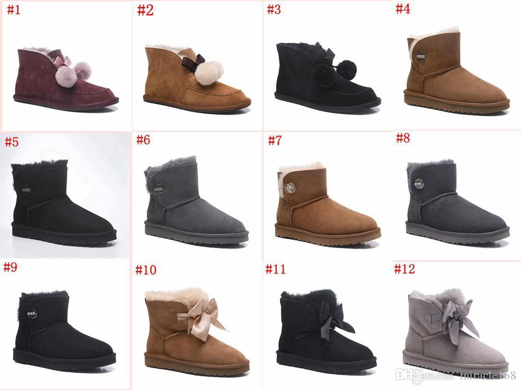 2018 Designer Shoes Winter Australia Classic Snow Boots Good Fashion Real  Leather Bailey Bowknot Women S Waterproof Antifouling Shoe Chelsea Boots  Women ... 4b0832492336