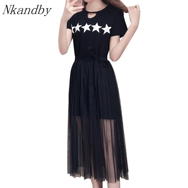2019 Nkandby Plus Size Dress 2018 Summer Korean Women Fashion Short ...
