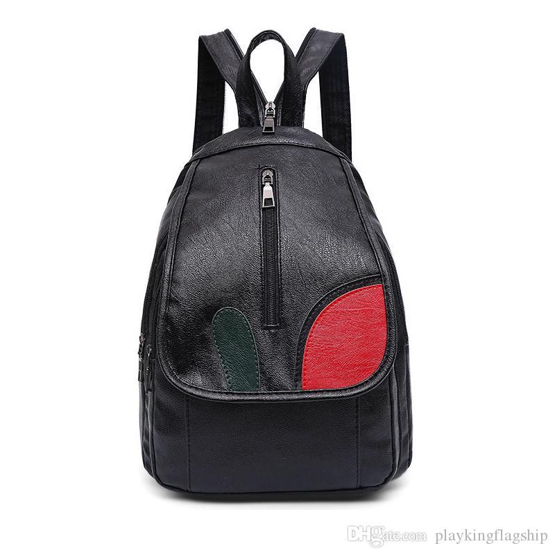 105f9f5cf3 2018 Vintage Women Backpack PU Leather School Backpacks Female Mochila  Feminine For Teenage Girls Fashion Backpack Shoulder Bag Back Pack Mochilas  Jansport ...