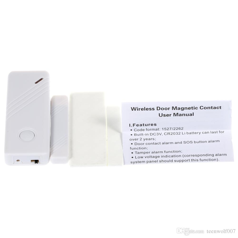 Wolf-Guard Wireless Contact Door&Window Magnet Sensor Detector for Personal Home Security GSM Alarm Panel Sensitivity Alarm System 433MHz