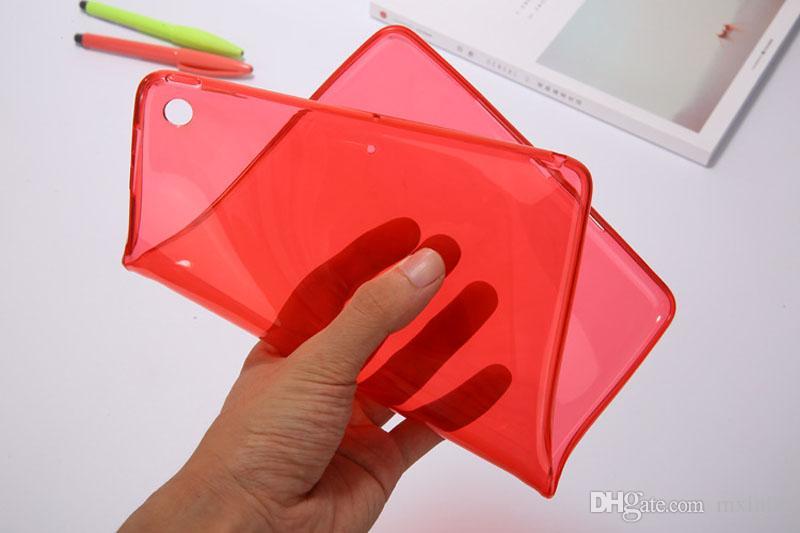 Cubierta de la caja trasera protectora transparente TPU suave color cristalino transparente para iPad 2 3 4 5 6 Air Pro 11 10.5 9.7 pulgadas 2017 2018 Mini Mini4