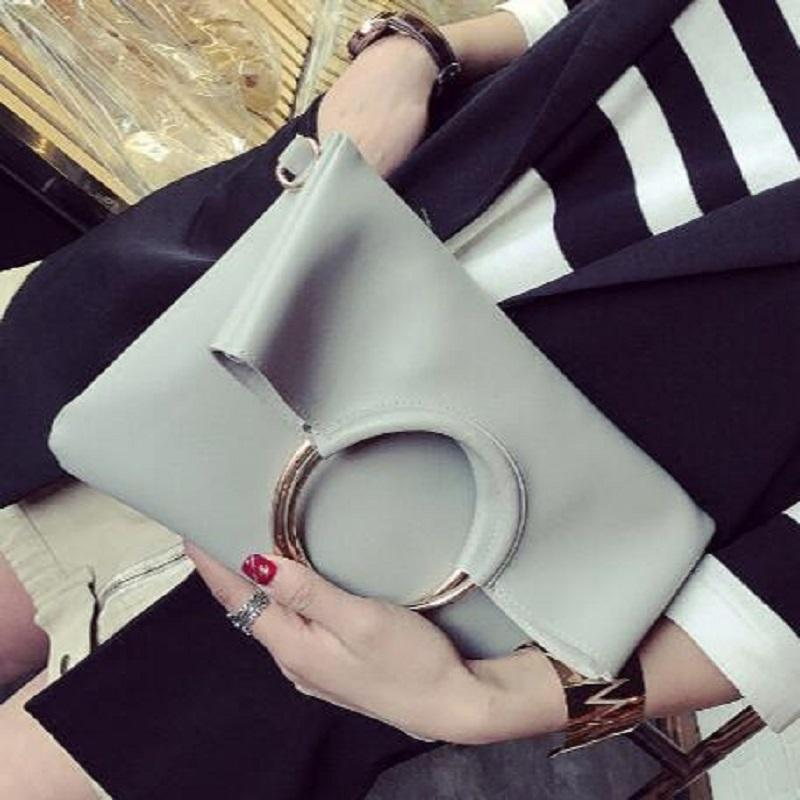 Fashion Gray Women Day Clutches Lady Handbag designer clutch purse PU leather famous women bag lady envelope clutch wallet