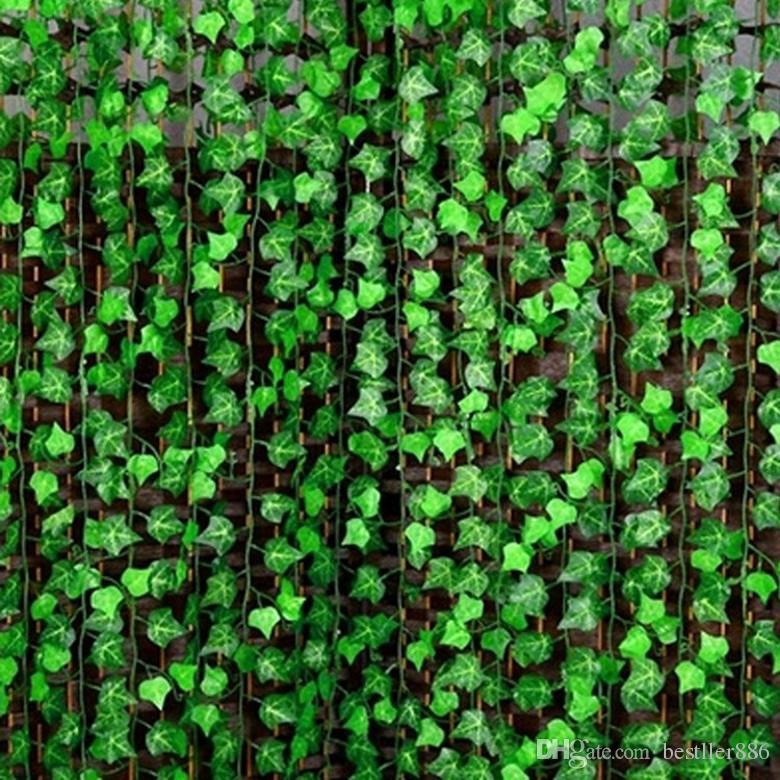 120 m / lote Home Wall Decor Artificial de Seda De Plástico Ivy Vine Colgante Planta Guirnaldas Suministros de Artesanía Para Navidad Boda Festival Decoración