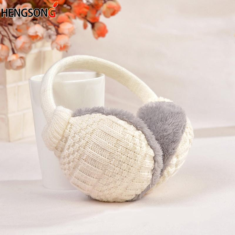 2018 New Warm Ear Muffs Cover Winter Knitted Earmuffs For Women Winter Ear Protector Plush Warmers
