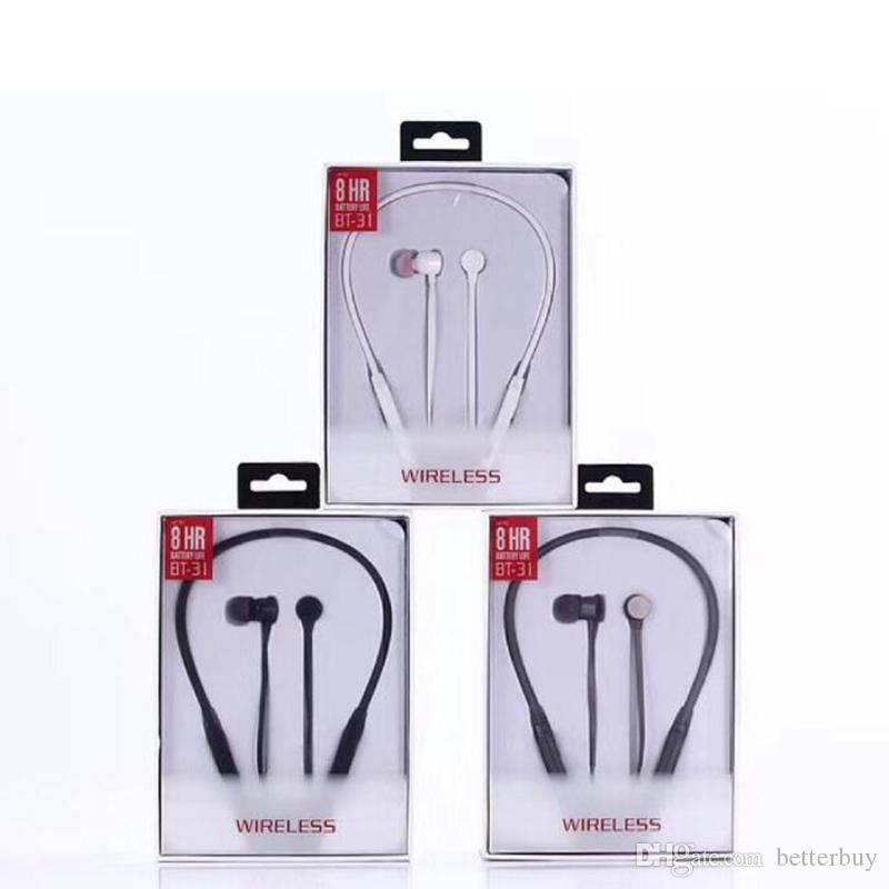 Best Price bluetooth headphones wireless earphones BT-31 for sport headsets with retail package dhl free shiping high quality