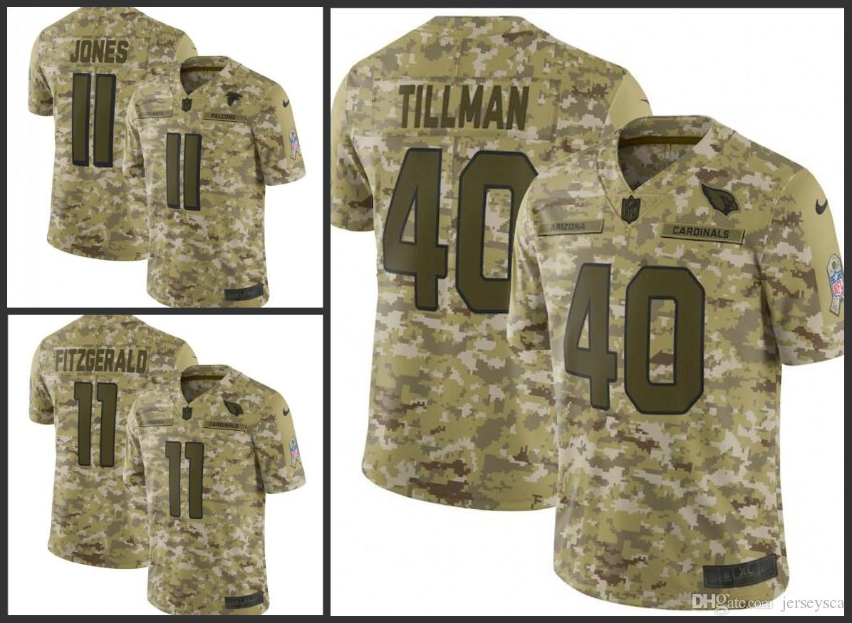 Arizona Mens Cardinals  11 Larry Fitzgerald 40 Patrick Tillman Falcons 11  Julio Jones Camo Salute to Service Retired Player Limited Jersey Online  with ... 1c720bb7a
