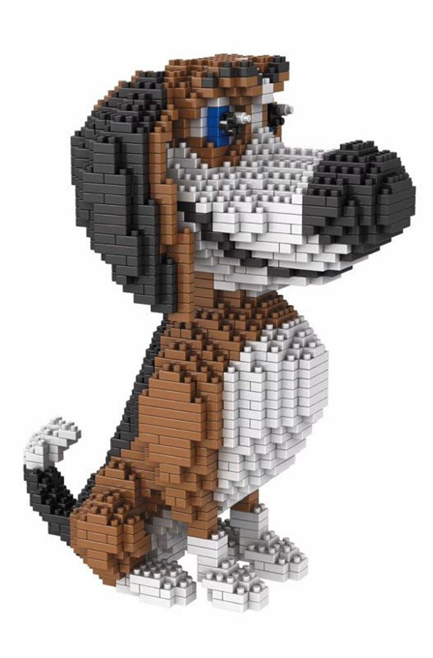 1800+ Diamond animal dog Blocks fast furry gray doggy nice holiday Children educational Building blocks Brick set @686-01P