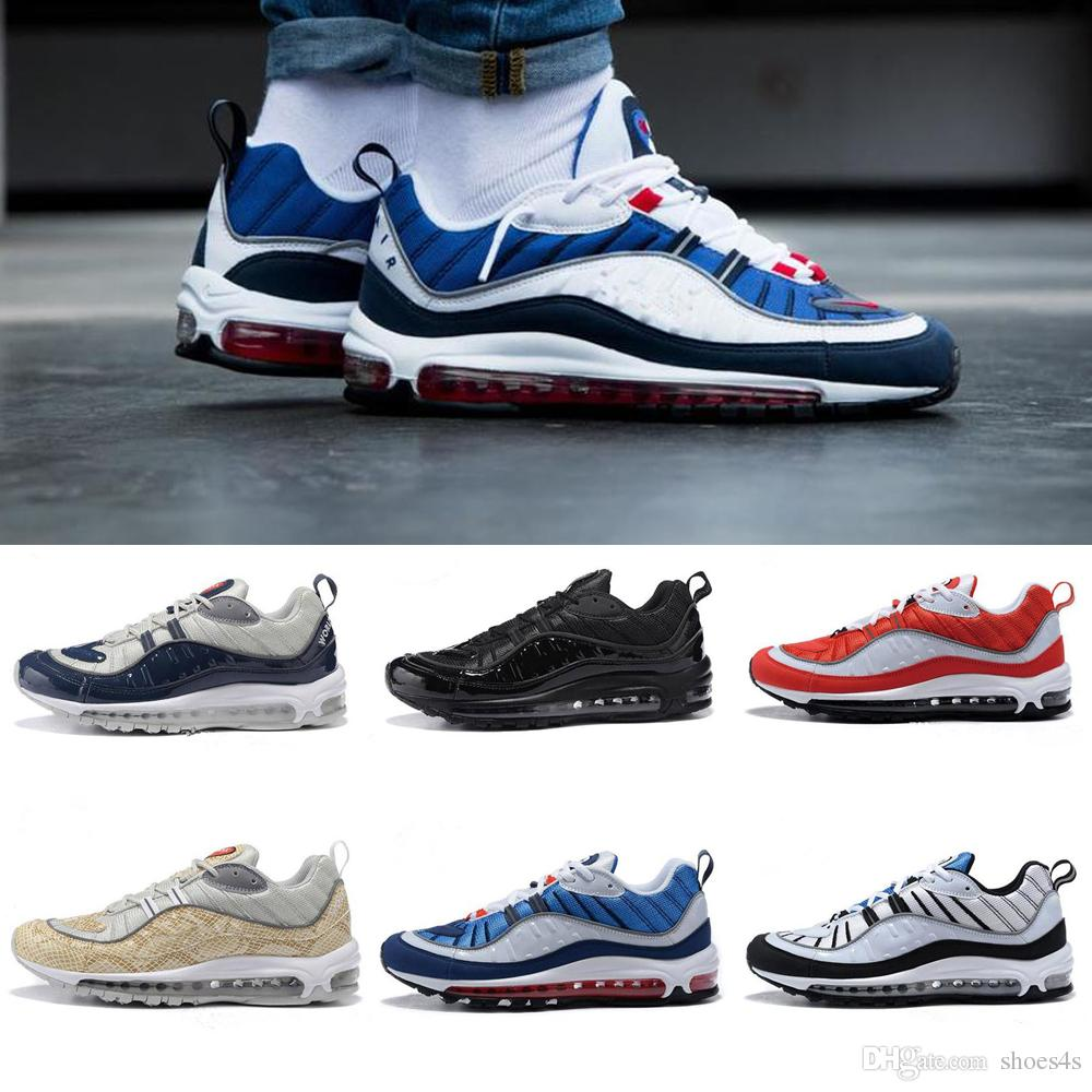With Box 2018 New 98 OG Gundam Casual Shoes Men's Sports Running Shoes High quality 98s White Blue Red Black Outdoor Athletic Sneakers cheap sale best prices new arrival cheap online clearance deals 5bOBtFnK