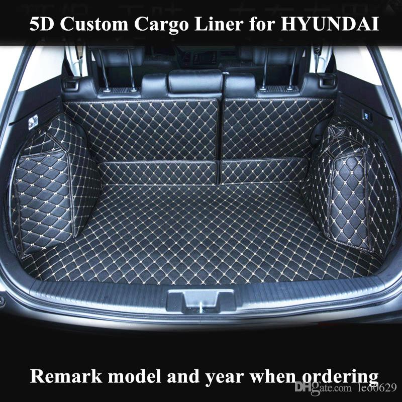 Custom Cargo Liner Car Trunk Mat for Hyundai tucson ix25 ix35 REINA ELANTRA  MISTRA Auto Trunk Mats Accessories