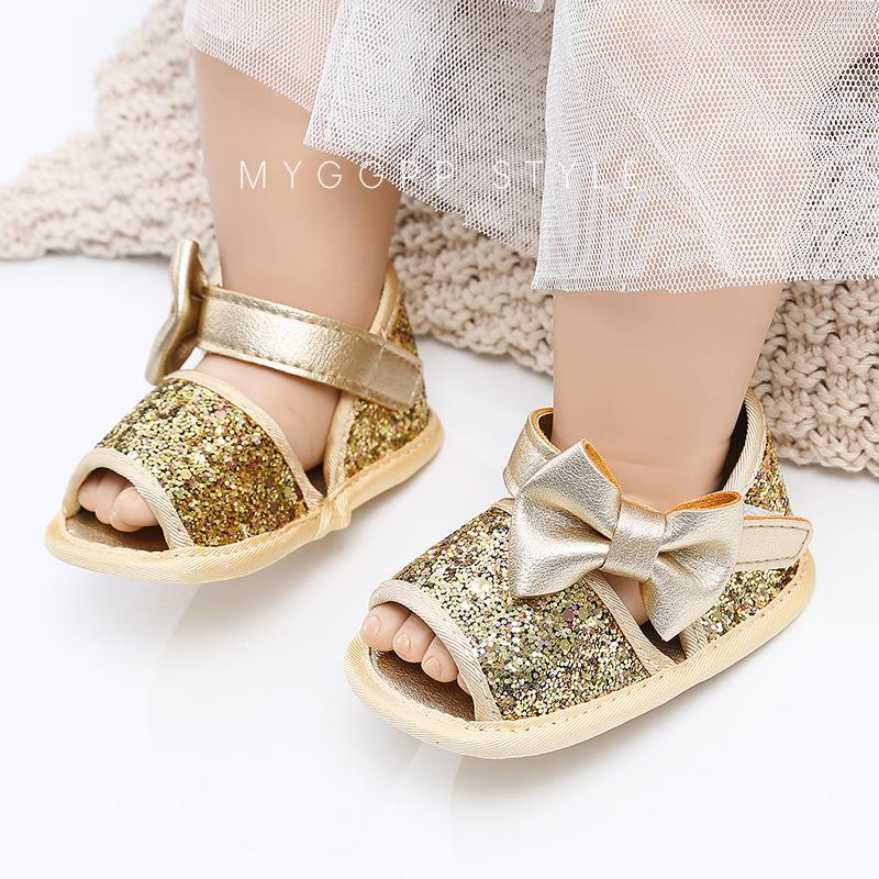 d0724a5f0d4b Baby Girls Sequins Princess Sandals Girl Bows Princess Sandals Toddler  Non-slip Soft First Walkers Fashion Autumn Newborn Shoes Y895 Girls Sequins  Princess ...