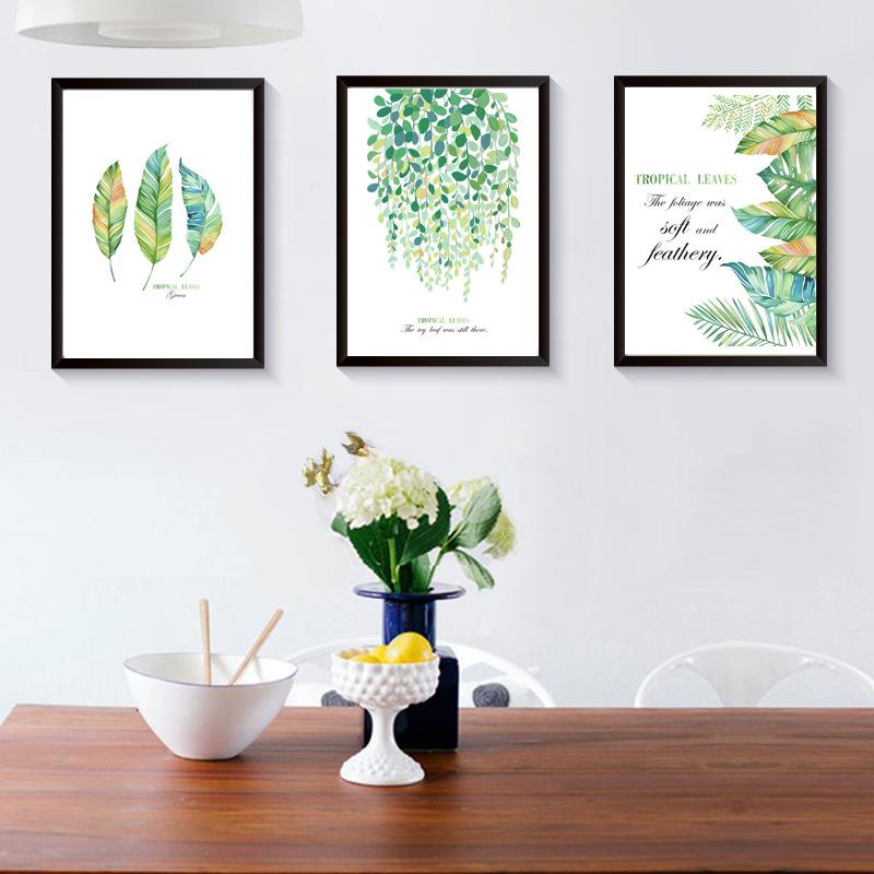 2019 Rural Green Leaves Home Decoration Wooden Photo Frame Living