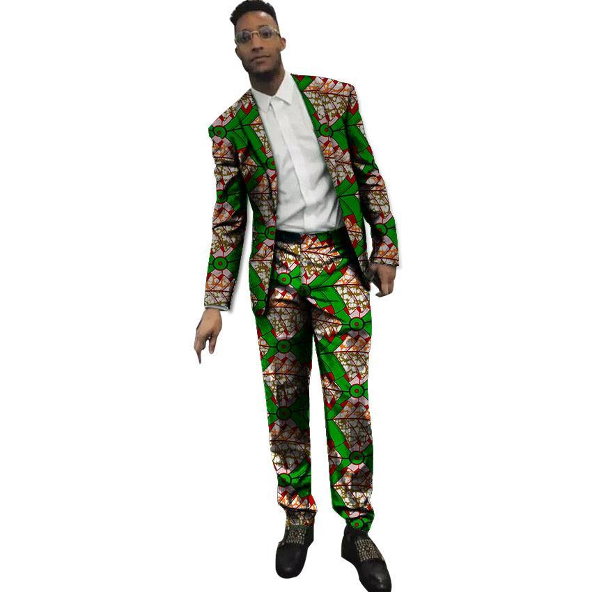 0c56a9b86d1a3 Acheter Blazer Imprimé Hommes Africains Avec Pantalon 2 Pièces Set Homme  Ankara Fashion Dashiki Costumes Costumes Faits Sur Mesure Hommes De $88.14  Du ...