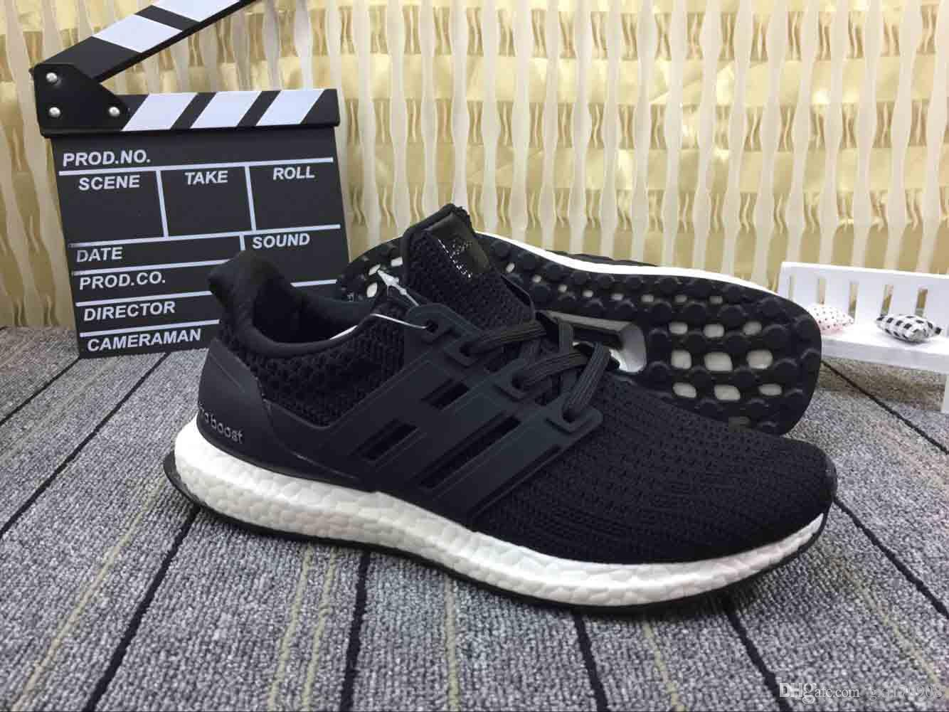 timeless design a6832 d8e92 free shipping Ultra boost 4.0 core Triple Black white CNY Primeknit Runner  fashion ultraboost sports trainer men women sneakers 36-45