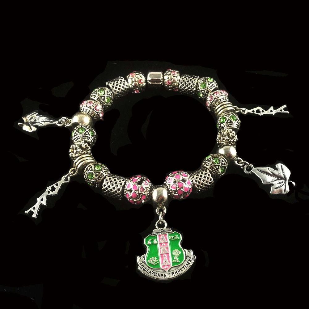 a8ae8ff6e Aka Sorority Sliver Tone Charm Bracelet Sister Gift Jewelry White Gold Charm  Bracelet Custom Charm Bracelets From Whatless, $26.56| DHgate.Com