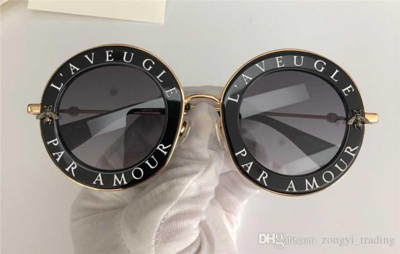 0113 nouvelles lunettes de soleil des femmes de haute qualité des lunettes de soleil femmes 0113S lunettes de soleil rondes Lunettes de soleil mujer de 113s lunette