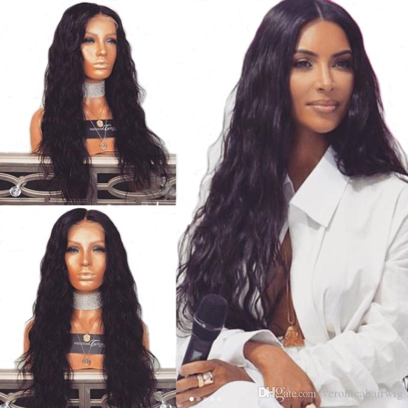 Hot Selling 26inch Natural Wavy Wig 180% Density Black Lace Front Wigs With  Baby Hair High Temperature Synthetic Wigs For African Women Henry Margu Wigs  ... 24a27c6c8850