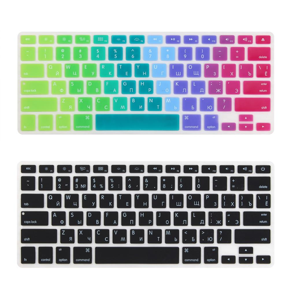 Russian US Enter alphabet Keyboard Cover Stickers Protector for MacBook .3 Mac Book Air13 inch A1466 A1369