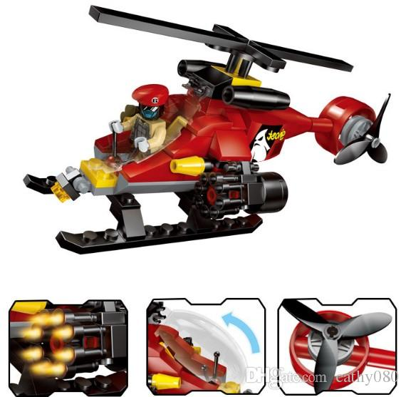 Minifigures Police Series Police Helicopter Chase Mini Figure Building Blocks Sets Kids toy Bricks