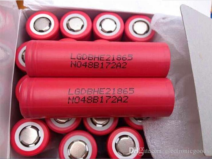 2018 Batteries high quality 18650 Battery HE2 2500mah max 35A output Rechargeable Batteries Using Cell phone Wholesale