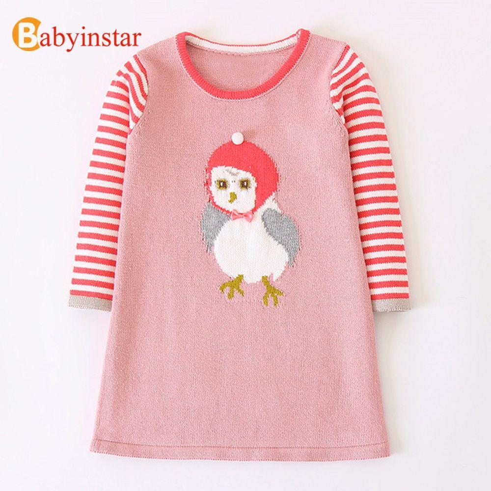 a80c1233e Babyinstar Baby Girls Dress 2018 Fashion Girls Chick Sweater Dresses ...