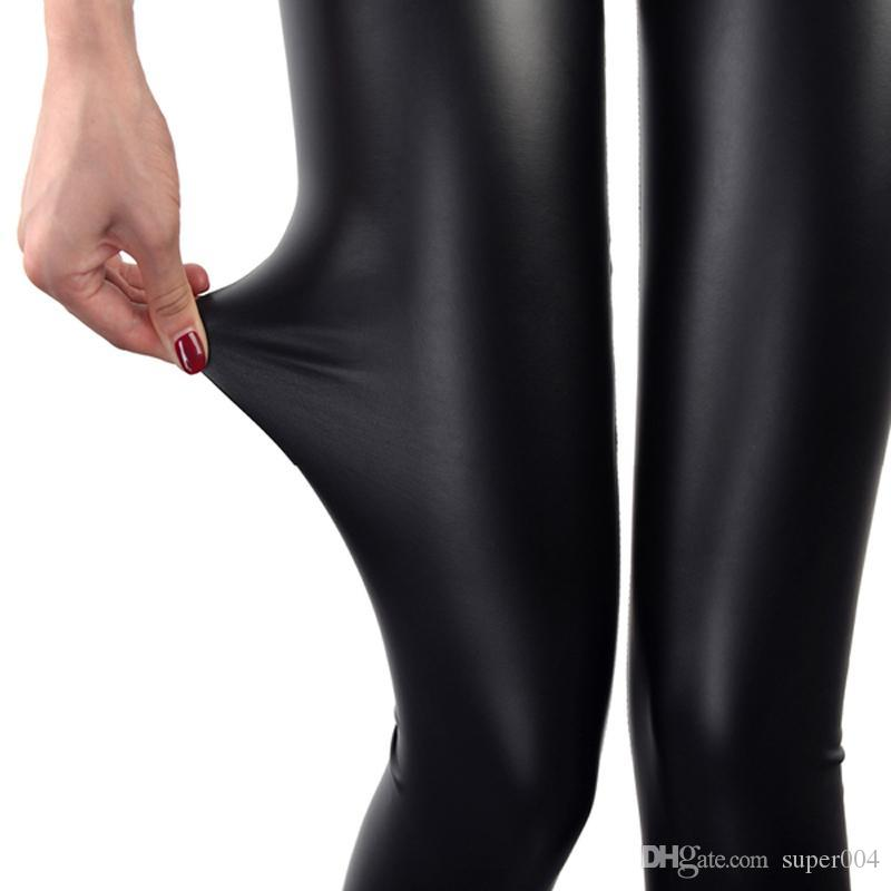 28cba43424574 2019 Faux Leather Leggings Navy Blue Sexy Women Leggins Thin Black Leggings  Calzas Mujer Leggins Leggings Stretchy Leggins Push Up From Super004, ...