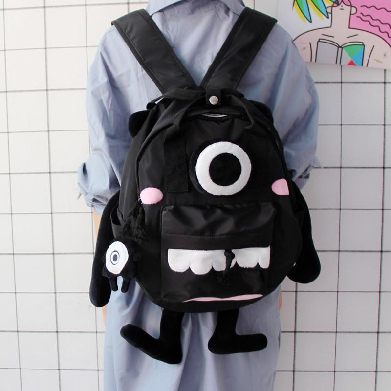 2018 New Personality Monster Bag Female Korean Version Of Harajuku High  School Students Campus Cute Backpack Teen Backpack Personalized Backpacks  Hunting ... 475e3e7b492a8