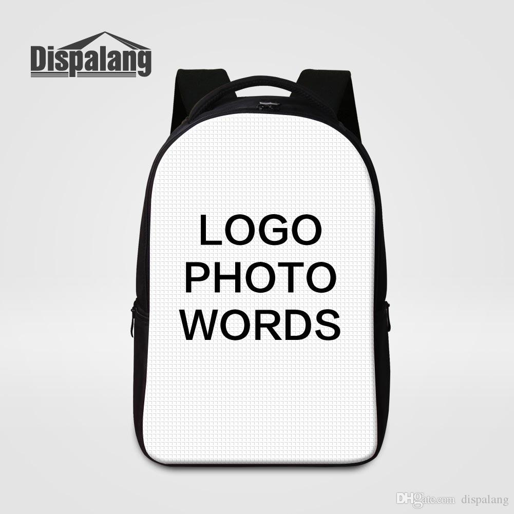customize your own design laptop backpack large capacity school bags