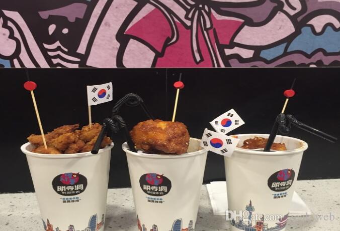 월드컵 국기 이쑤시개 칵테일 스틱 음식은 컵 케이크 토핑 임의의 국가 가방을 시설