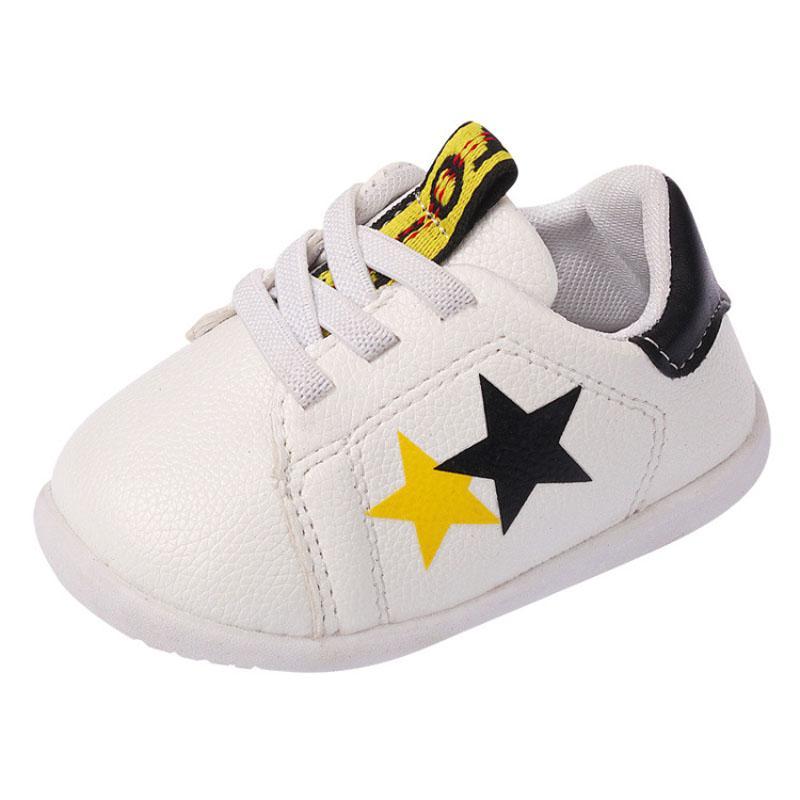 84d9e5cf5 Compre Zapatos Casuales Para Bebés Zapatos De Cuero Suaves Para Niñas  Pequeñas Para Niños Pequeños Caminata Blanca Linda Para Niños A  43.6 Del  Cassial ...