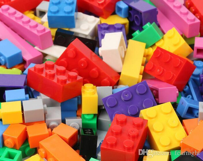1000pcs lot DIY Bulk Building Blocks Building Bricks Construction Brick Building Blocks Toys for Kids