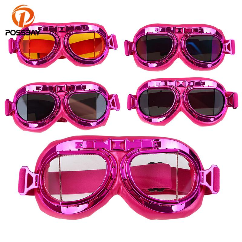 ceb7cb477a9 POSSBAY Pink Cute Motorcycle Goggles Glasses 2018 Motocross Moto ...