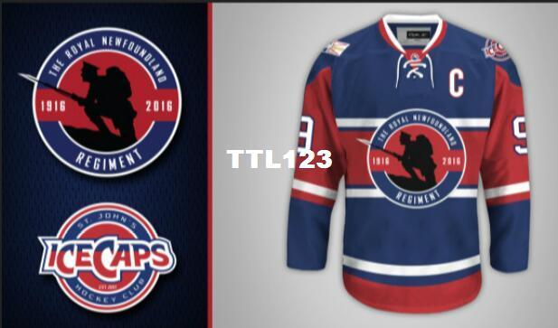 dce7cc776f1 2019 Real Men Real Full Embroidery St. John\u0027S IceCaps Unveil Royal ...  Dustin Byfuglien Winnipeg Jets Reebok Premier ...