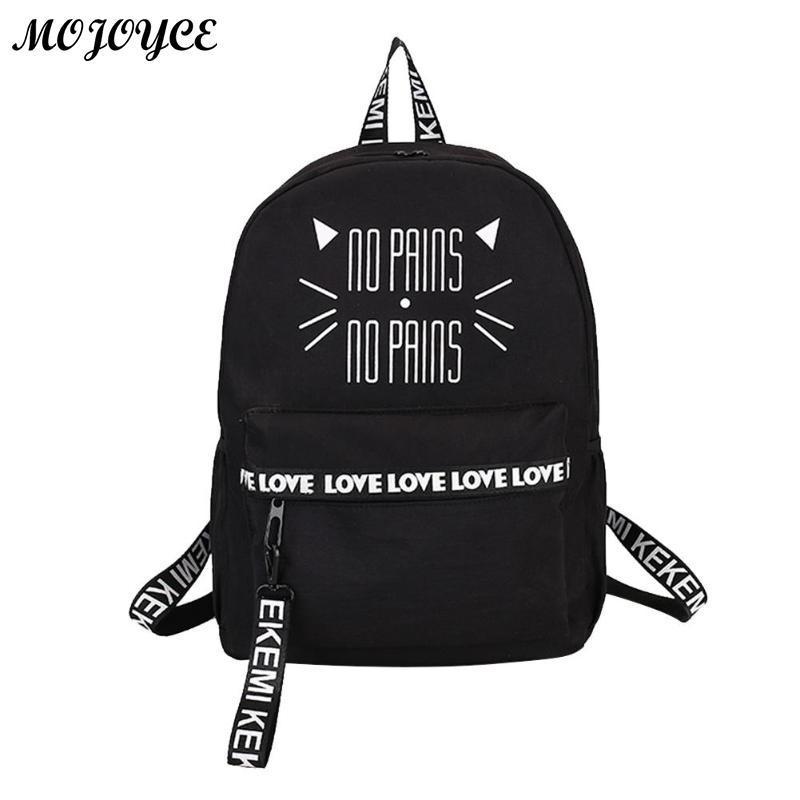 9cad4f37849e Cute Cat Printing Backpack Pink Black School Bags For Teenage Girls Students  Book Bag Notebook Backpacks Fashion Nylon Rucksack Hydration Backpack Womens  ...