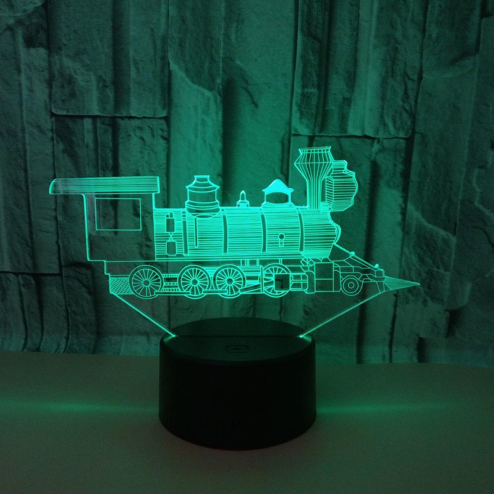 3d Atmosphère Enfants Lumière Luminaria Décoration Train Faveurs Light De Chambre Cadeau Lampe Jouets Led Night Noël 2YWDHIEe9