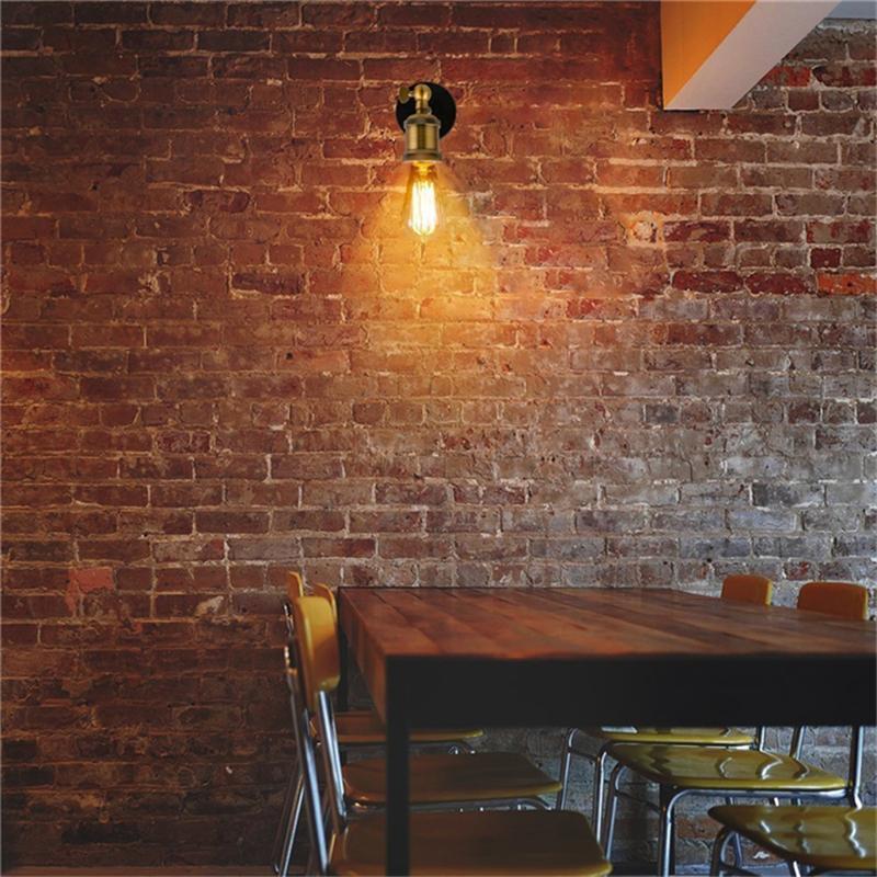 Luzes de parede do diodo emissor de luz do vintage 110V 220V E27 lâmpadas de parede de metal decoração simples única lâmpada de parede rústica retro iluminação