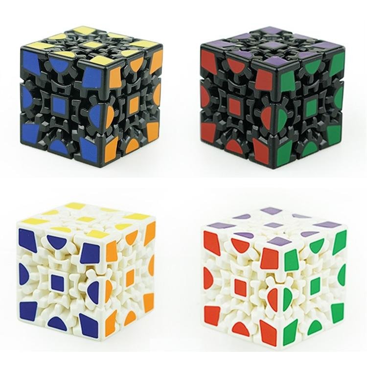 3d Cube Puzzle Magic 3 X Gears Rotate Sticker Adults Kids Educational Toy Toys La638 2 Majic Solution Of From
