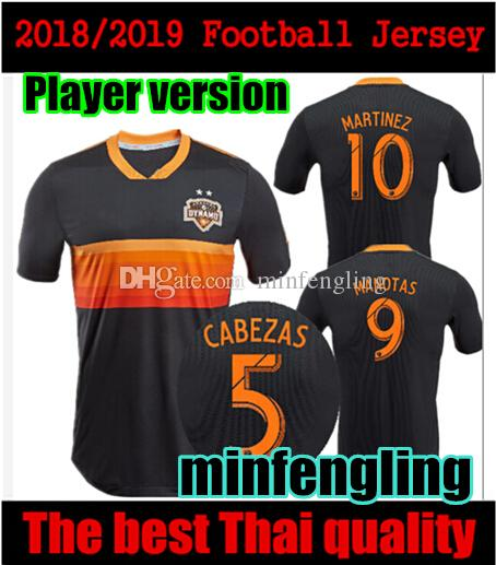 promo code cbb26 feb8d Player version 2018 2019 Houston Dynamo Jersey Martinez Manotas Elis  Beasley Cabezas Football Shirt 18 19 Dynamo away soccer Jersey 10 free