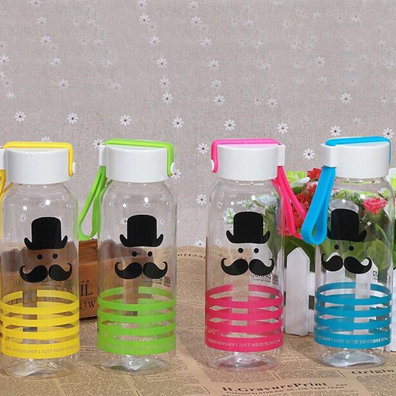 ZanNuo 2017 Summer New fashion water bottle Cartoon Tiger ducks beard pattern my green plastic water bottle Adult office cute