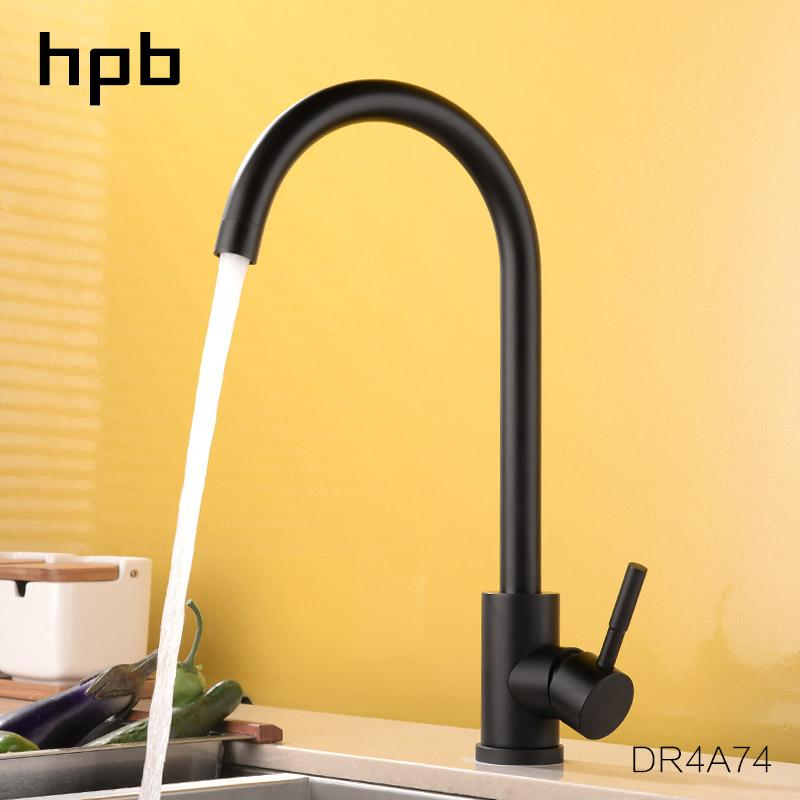 2019 hpb lead free high arc one handle kitchen faucet hot and cold rh dhgate com moen one handle kitchen faucet repair leaky one handle kitchen faucet