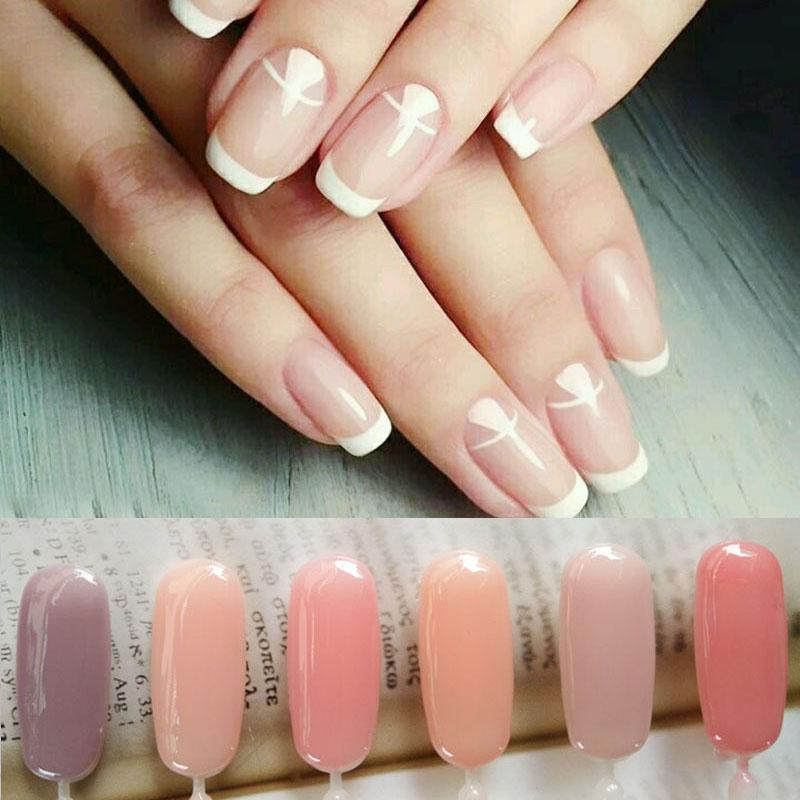 Pvadcol 7ml Nail Gel Translucent Jelly French Nails Varnish Soak Off ...