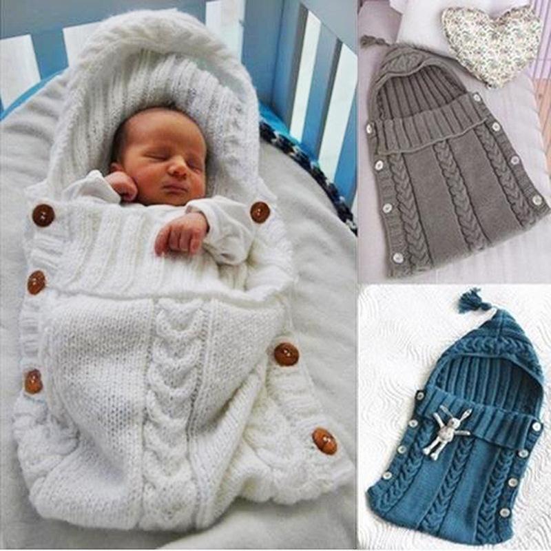 Compre Tejido De Recién Nacido Bebé Saco De Dormir Swaddle Manta 0 2 ...