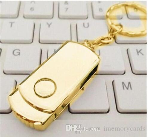 64 GB 128 GB 256GB Altın Gümüş Metal ile Anahtar halkası Swive USB Android ISO akıllı telefonlar Tablet için 2.0 Flash Sürücü Bellek