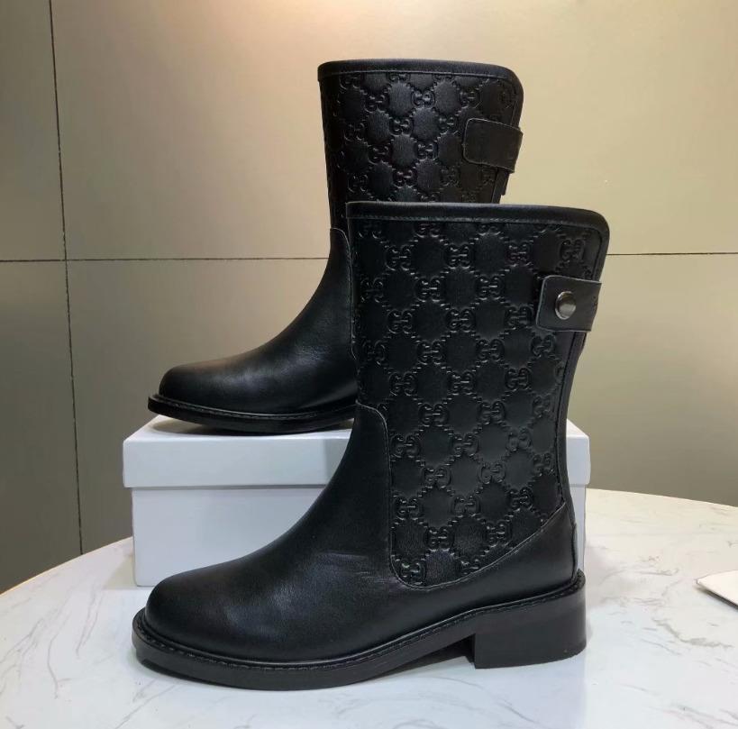 High End Women Counter Fashion Black Flat Boots Women Shoes Designer ... 75a751b20