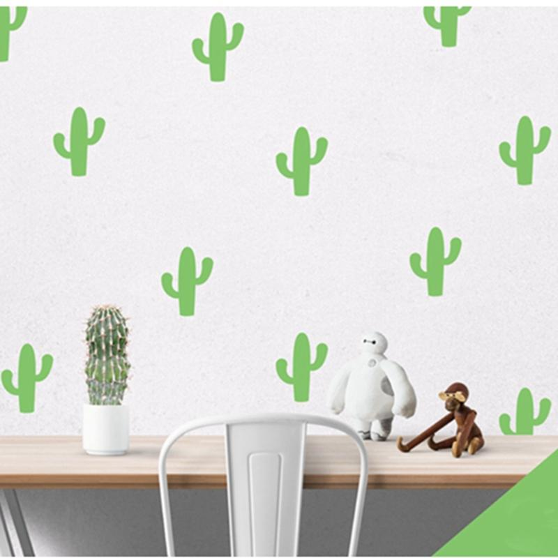 cactuses cacti cartoon little wall sticker, removable cactus wall