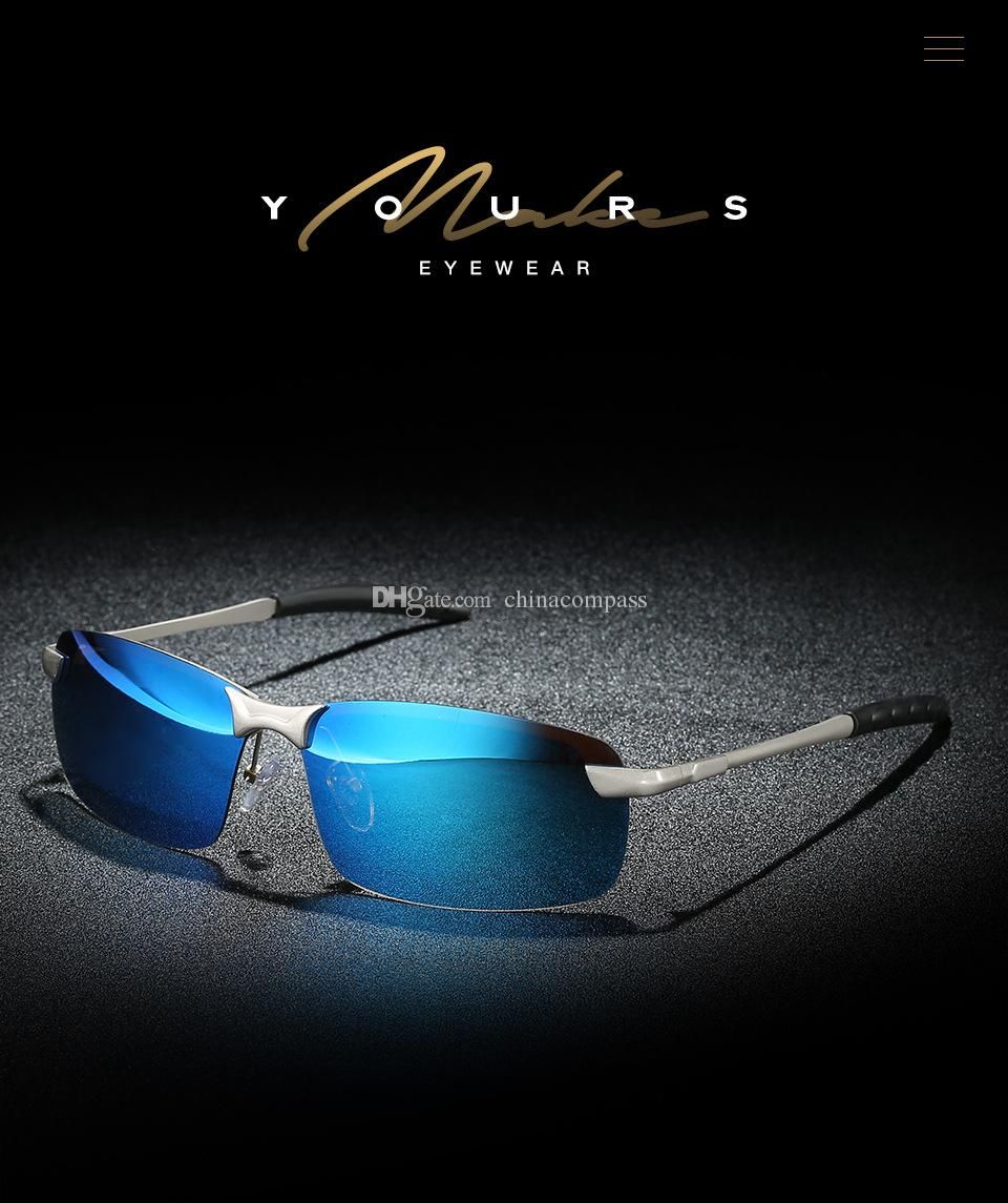 New Fashion UV400 Polarized Sunglasses Sport Flash lens Eyewear Driving Fishing for Men 3043