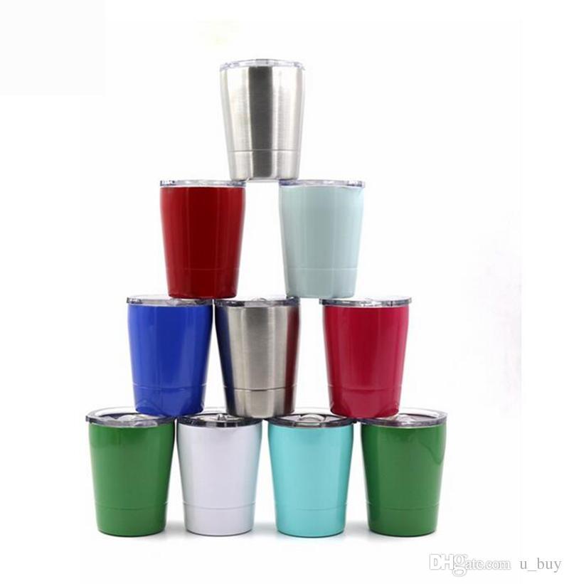 11ba81bf852 2019 8.5oz Stainless Steel Tumbler Wine Glass Travel Vehicle Beer Mug Non  Vacuum Mugs From U_buy, $3.72   DHgate.Com