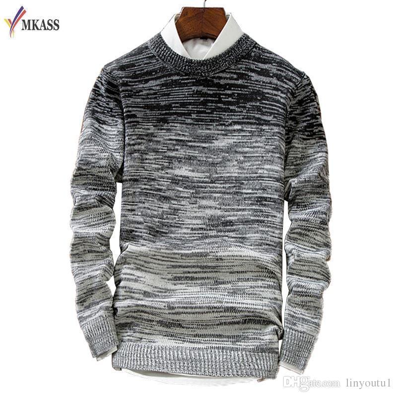 6b5ff5b3c1c5 Großhandel Neue Mode Cashmere Pullover Männer Marke Kleidung Herren Pullover  Freizeithemd Wolle Pullover Männer Ziehen Oansatz Kleid Von Linyoutu1, ...