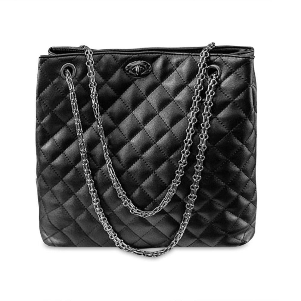 European American Fashion Women Diamond Lattice Handbags Casual Lady ... 11d4a82e10bb5
